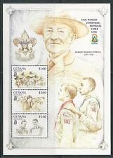Guyana # 3356 Mnh 19Th World Scouting Jamboree, Chile 1998. Miniature Sheet