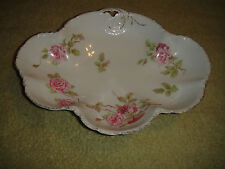Vintage RC Versailles Bavaria Serving Bowl-Rosenthal-Pink Roses-Scalloped Edge