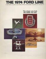 1974 Ford Line CDN Sales Brochure Mustang LTD Maverick