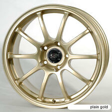 1 ROTA G-FORCE 17X8 5X100 ET48 GOLD 56.1 HUB RIM WHEEL ( 1 WHEEL )