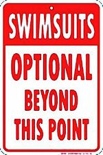 Swimsuits Optional funny metal sign (ga)