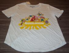 WOMEN'S TEEN  NICKELODEON REN & STIMPY INVADER ZIM RUGRATS T-shirt LARGE NEW