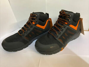 TIMBERLAND PRO BOOTS BLACK ORANGE WORK ALLOY TOE ANTI FATIGUE NEW SIZE 8 A2AYP