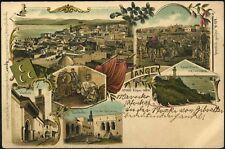 Dt. Kolonialgeschichte Marokko (1899), Tanger, attraktive Farblitho-AK.(5831/29)