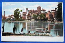"""Vintage Torino Italy """"Esposizione Nazionale del 1884"""" Village & Castle. Unused"""
