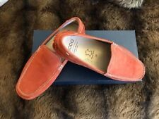 Men's ECCO Suede Driving Mocs  Mens Size 8 Orange