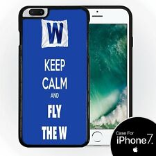 Chicago Cubs Keep Calm and Fly The W Silicone Case for iPhone 7+ (5.5)  New