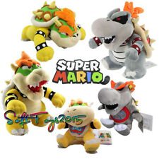 Set of 5 Super Mario Bros King Dry Bowser Koopa Jr BB Stuffed Plush Doll Xmas US