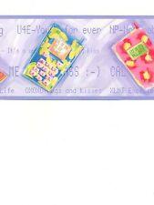 Girls Cell Phone Wallpaper Border KJ0331BD