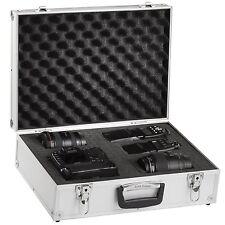 BRUBAKER Pro Aluminum Digital SLR Camera Case Foam Padded silver