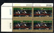 #1335 1967 5-cent Eakins block of 4 with plate# MNH