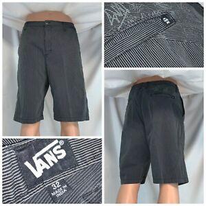 Vans Skateboard Shorts Sz 32 Gray 100% Cotton Flat India LNWOT YGI E0-510