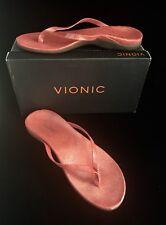Women's VIONIC Selena Corfu Size 10 Thong Sandal Coral Orthaheel $99.95 New