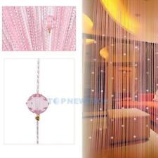 Perlen Fadenvorhang Türvorhang 1Mx2M 6 Farbe Raumteiler Zimmer Deko Girlande