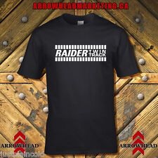 Raider Twin Track vintage Snowmobile style T-shirt black
