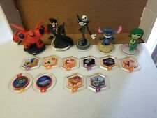 Huge Lot Of 5 Disney Infinity Characters 10 Power Discs 1, 2.0, 3.0 MIXED