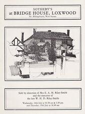 BRIDGE HOUSE  LOXWOOD, NR. BILLINGSHURST, W. SUSSEX HOUSE SALE AUCTION CATALOGUE