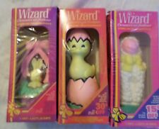 Lot 3 Vintage Wizard Air Fresheners In Boxes Lamb Rabbit in Basket Hatching Duck