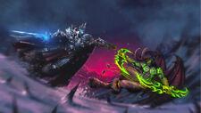 Arthas Menethil  Illidan Stormrage World of Warcraft Poster 24 X 14 inch