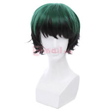 My Hero Academia!Izuku Midoriya! Short Dark Green Fluffy Cosplay Wig USA Ship