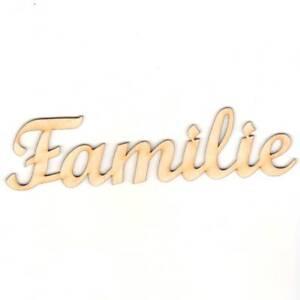 Familie 20cm Schriftzug Wanddeko schönes Wohnen Holz Deko Familienschild