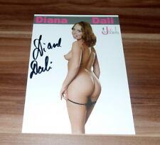 Diana dali * Top pornostar erotico Venere *, originale SIGNED CARD 15x20 cm * SEXY *