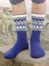 Men's Scandinavian Style Fair Isle Sock DK KNITTING PATTERN