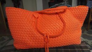 Brand new trencato bright orange tote bag by Alex Max