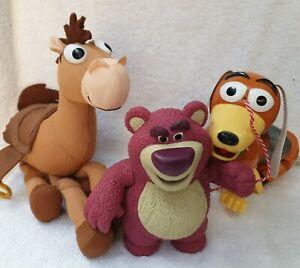 Toy Story - Lotso figurine 18cm + Bullseye plush + pull along Slinky Dog DISNEY