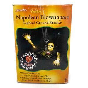🔴 SEE VIDEO! VTG Napoleon Blownapart Lighted Ground Breaker Sienna Halloween