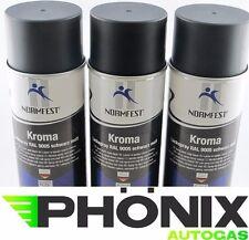 3x Normfest Kroma 400ml schwarz matt RAL 9005 Lack-Spray