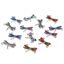 10pc Enamel Multicolor Dragonfly Beads Connector Charm Fit DIY Bracelet/Necklace