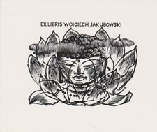 Mark SEVERIN (B) 1906-1987 Exlibris Jakubowski Lotus Buddha Wood Engraving #221