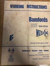 Bamfords 225 Twin Drum Sizzler Working Instructions