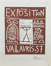 """Exposition Vallauris 1957"" by Picasso Signed Lithograph 10""x7 1/2"""