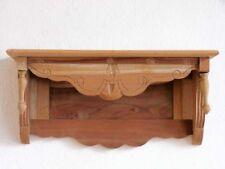 Wandkonsole Board Regal Breite 60 cm Holz Naturbelassen Antik-Stil Konsole