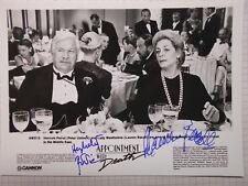 PETER USTINOV (+) & LAUREN BACALL (+) original signiert – 13x18cm