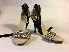 Gucci Silk evening shoe SALE!!  in cream and black silk 1
