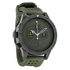 Nixon Chrono Gunmetal Dial Green Rubber Mens Watch A2781089