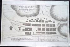 Antica mappa, payta nel Regno di Santa Fee mentito alla latitudine 5 ° 12' S