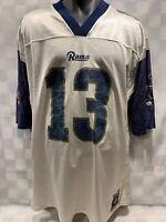 Kurt WARNER #13 Los Angeles RAMS Reebok Football Jersey Size XL St Louis