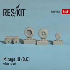 RESIN WHEELS SET  FOR MIRAGE III (B,C) 1/48 RESKIT 48-0028