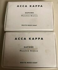 Acca Kappa Soap, White Moss - Set of 2, 3.5 Oz (100 G) Soaps