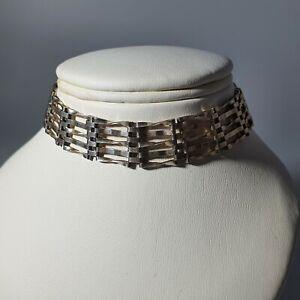 Sterling Silver Hallmarked Gate Bracelet With Heart Padlock (Damaged)