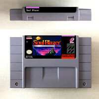 Soul Blazer New Game Card Console For Nintendo SNES US Version 16 Bit English