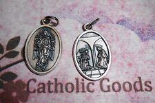 """Saint St. Gabriel the Archangel - Annunciation - Silver-tone OX 1"""" Medal"""