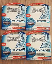 32 WILKINSON SWORD HYDRO 5 BLADES 4 X 8 PACKS GENUINE UK STOCK !!!!!