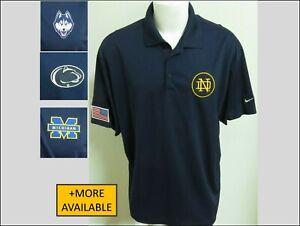 Sz S-2XL Navy Blue Ncaa Usa Nike Dri-Fit Mens Polyester #23VD Golf Polo Shirt