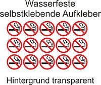 3 cm Aufkleber Nicht Rauchen verboten Rauchverbot Nichtraucher transparent Glas