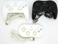 Original Nintendo Wii Classic Controller Pro Black White Wii U OEM Official